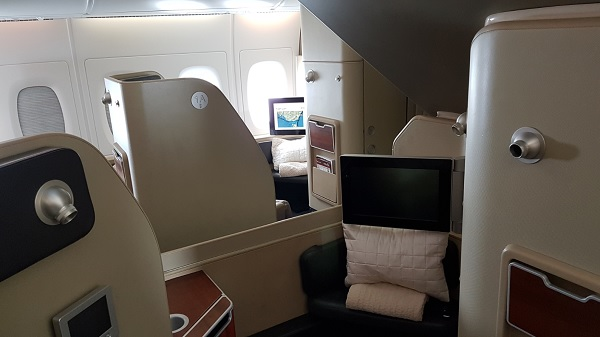Qantas First Class Review Airbus A380 Seat 1A 2