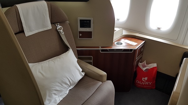 Qantas First Class Review Airbus A380 Seat 1A 3