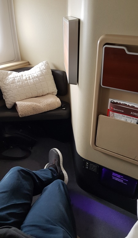 Qantas First Class Review Airbus A380 Seat 1A 3a