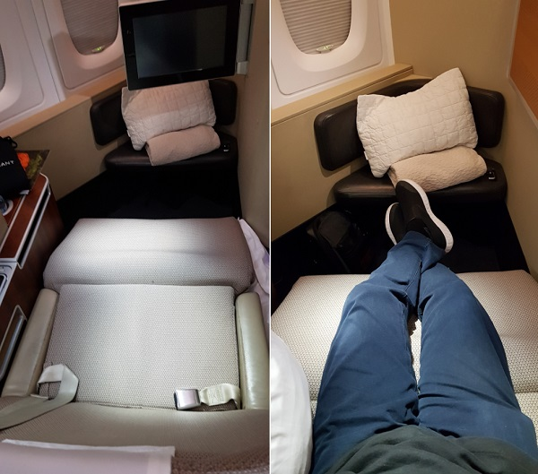 Qantas First Class Review Airbus A380 Seat 1A 9