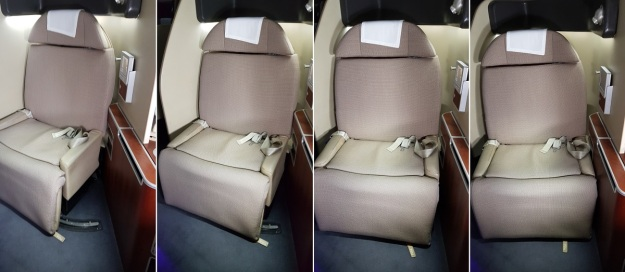 Qantas First Class Review Airbus A380 Seat 1A Swivel 4