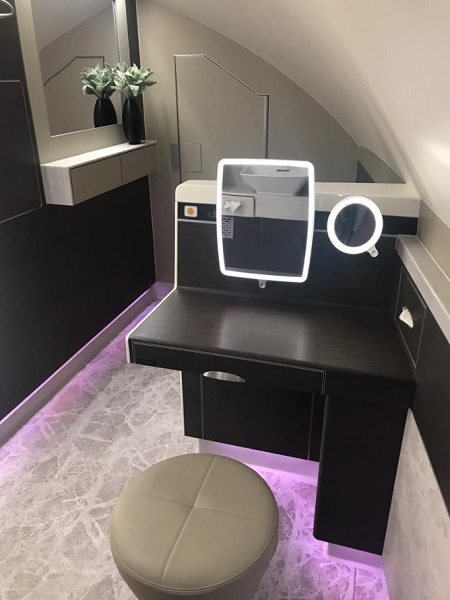 Singapore Airlines New Suite Airbus A380 Toilet 2