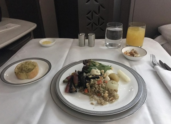 Singapore Airlines New Suite food In FLight Menu to Zurich 6