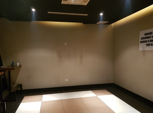 Malasia Airlines Business Class Golden Lounge KLIA Smoking Room 2