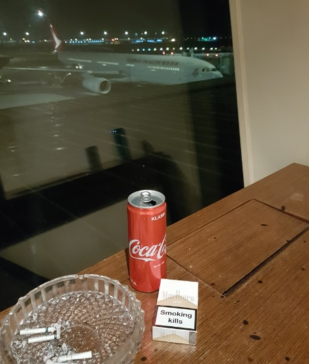 Malasia Airlines Business Class Golden Lounge KLIA Smoking Room 3