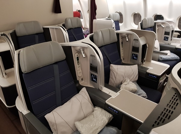 Malaysia Airlines Business Class Airbus A330 Seat 3