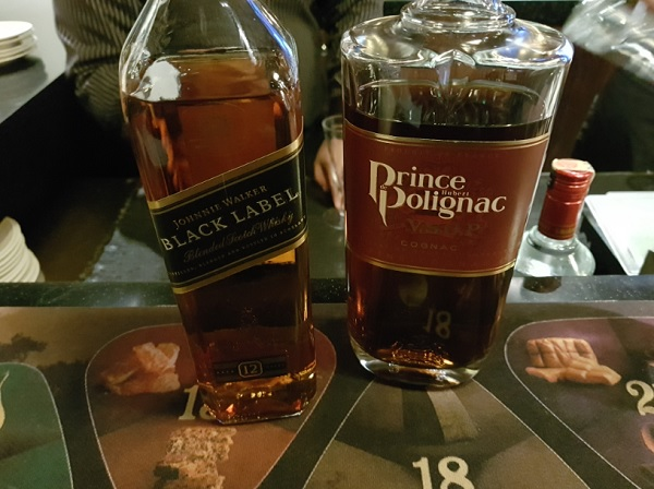 Malaysia Airlines Business Class Lounge Bar KLIA Whisky and Cognac