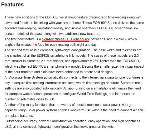 Casio Edifice Solar Bluetooth EQB 900 DB Blue LED Feature.jpg