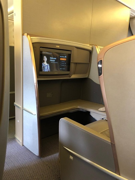 Singapore Airlines Business Class Seat 1