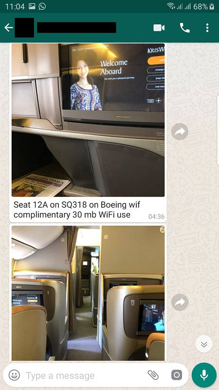 Singapore Airlines Business Class Seat Boeing 777 1