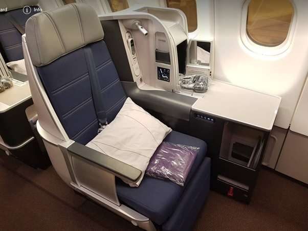 Business Class Malaysia Airlines KL Beijing 1.jpg