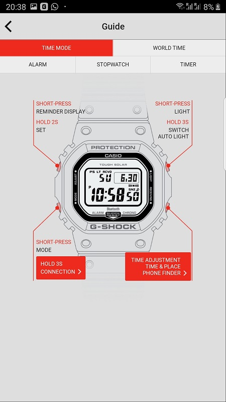 G Shock Connected App 1