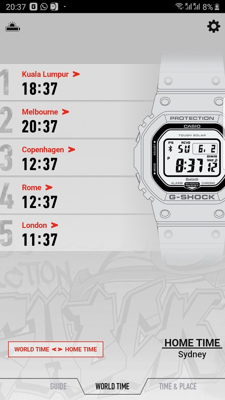 G Shock Connected App 2