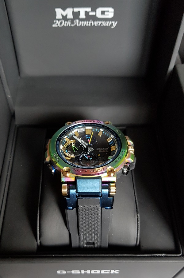 G-Shock MTG-B1000RB Rainbow Limited Edition Unboxing 8a