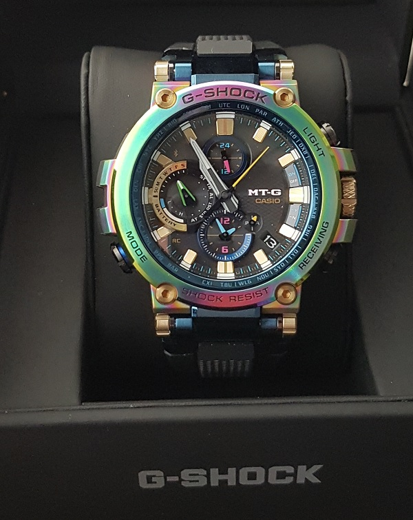 G-Shock MTG-B1000RB Rainbow Limited Edition Unboxing 8c