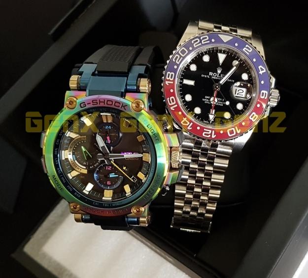 G-Shock MTG-B1000RB Rainbow Limited Edition versus Rolex GMT Master II Pepsi 1