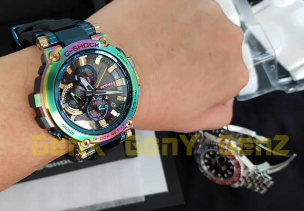 G-Shock MTG-B1000RB Rainbow Limited Edition versus Rolex GMT Master II Pepsi 2