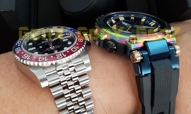 G-Shock MTG-B1000RB Rainbow Limited Edition versus Rolex GMT Master II Pepsi 8