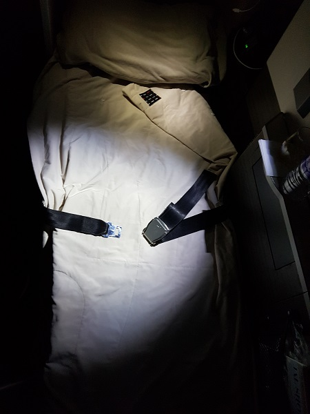 Japan Airlines Sky Suite Business Class Seat 1C Bed 2