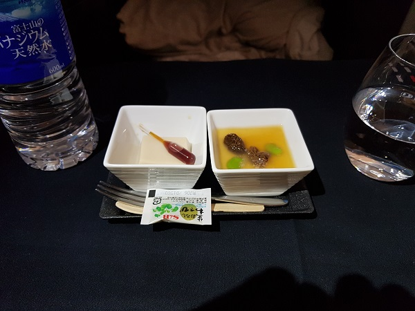 Japan Airlines Western Set Menu Business Class Tokyo to Melbourne 1