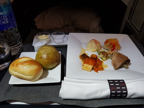 Japan Airlines Western Set Menu Business Class Tokyo to Melbourne 2