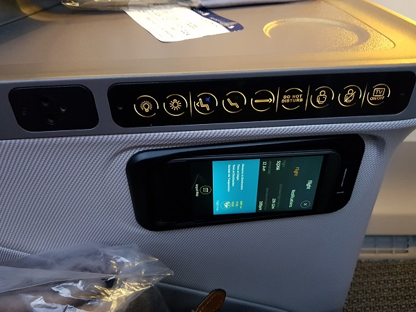 Singapore Airlines Business Class Brisbane to Singapore Aibus A350 Controller 1