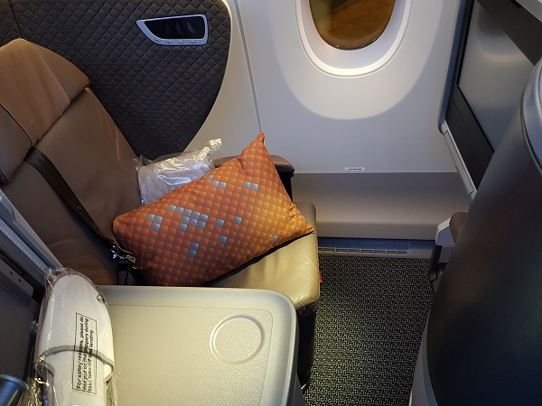 Singapore Airlines Business Class Brisbane to Singapore Aibus A350 Standard Window Aisle Seat 2