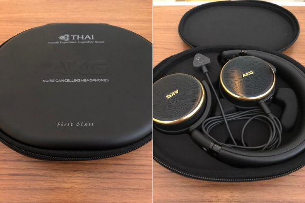Thai Airways First Class Review Headphone