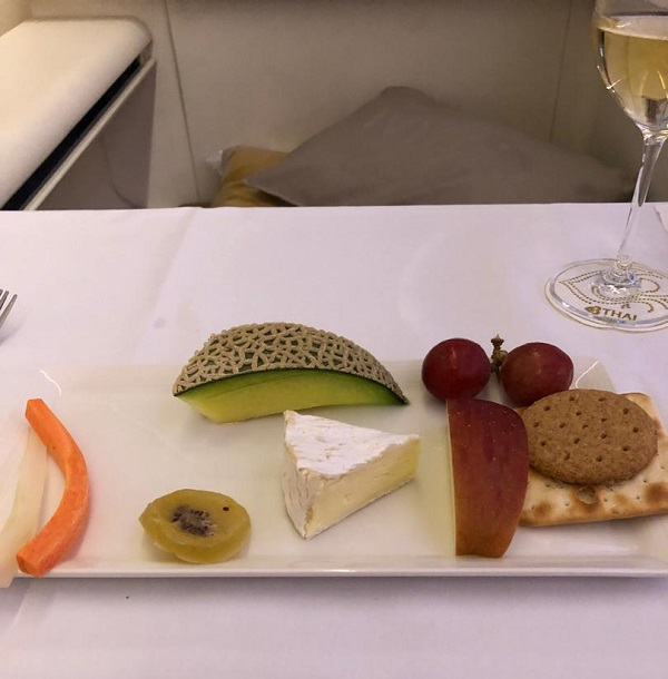 Thai Airways Royal First Class Airbus A380 Review Food and Drinks 2