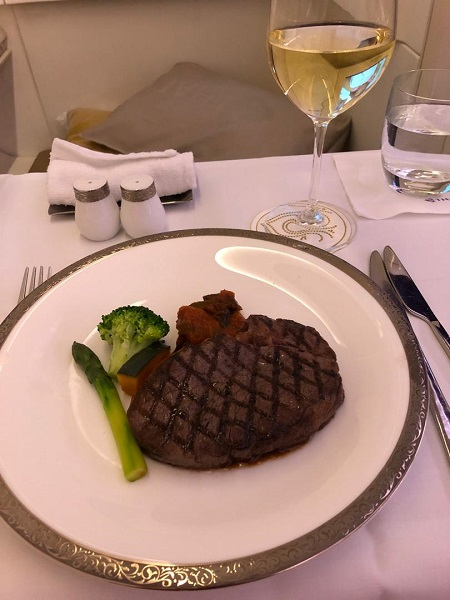 Thai Airways Royal First Class Airbus A380 Review Food and Drinks 4