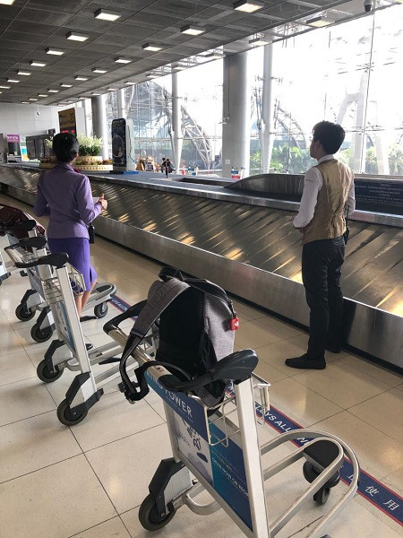 Thai Airways Royal First Class Airbus A380 Review Ground Baggage Service