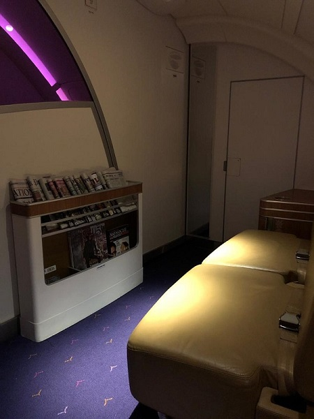 Thai Airways Royal First Class Airbus A380 Review Lounge