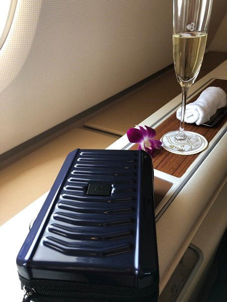 Thai Airways Royal First Class Airbus A380 Review Seat 1A Side 2