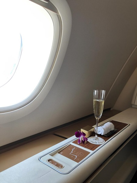 Thai Airways Royal First Class Airbus A380 Review Seat 1A Side