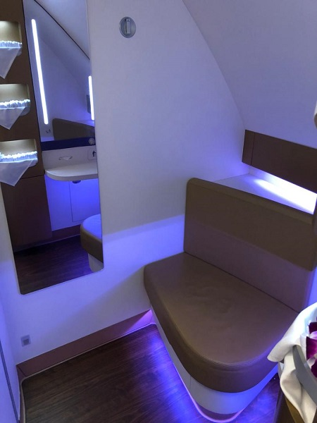 Thai Airways Royal First Class Airbus A380 Review Toilet