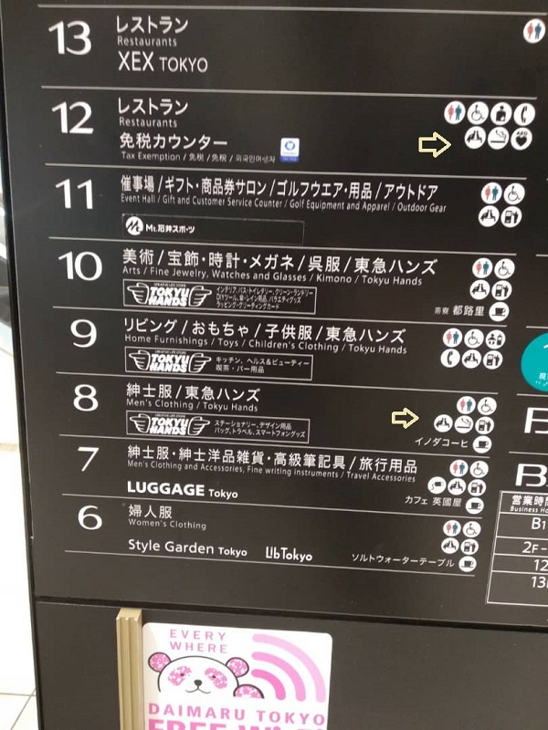Tokyo station daimaru smokiing room level floor.jpg