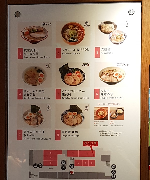 Tokyo Station Ramen Street Store Location