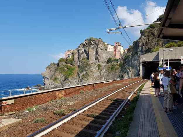 Cinque Terre Manarola train station