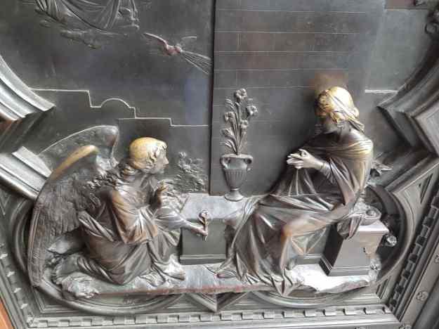 Florence Cathedral Chapel Door Sculpture