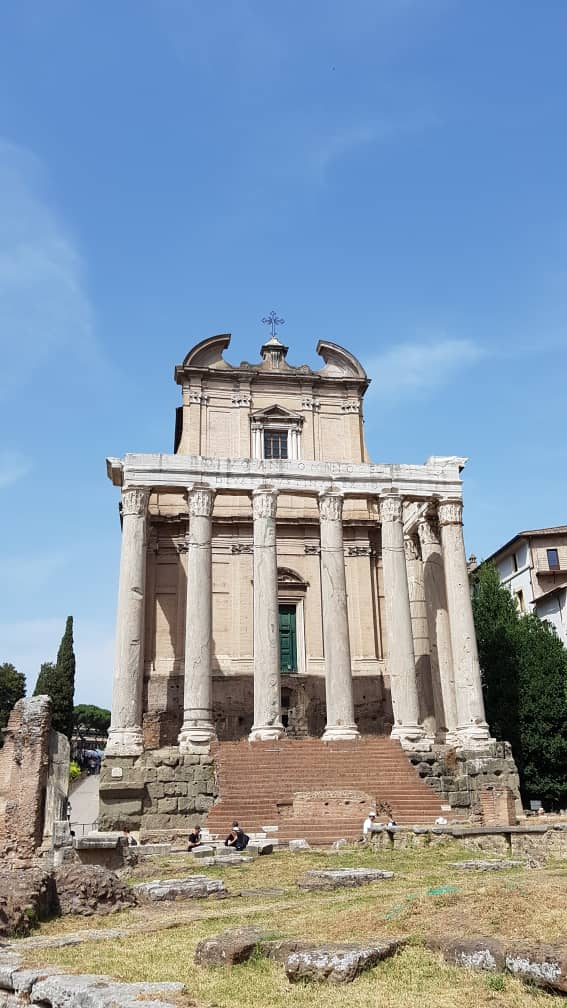 Pagen Temple converted to church in Rome Forum