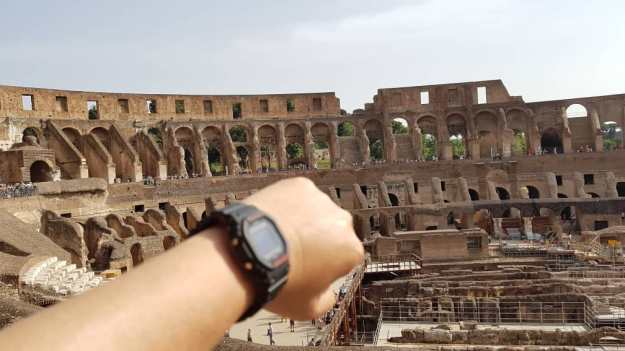 Rome Colossuem with G Shock