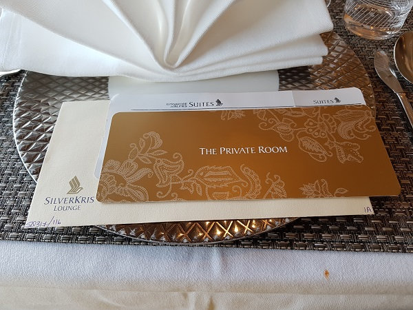 Singapore Airlines Private Room Invitation at Heathrow