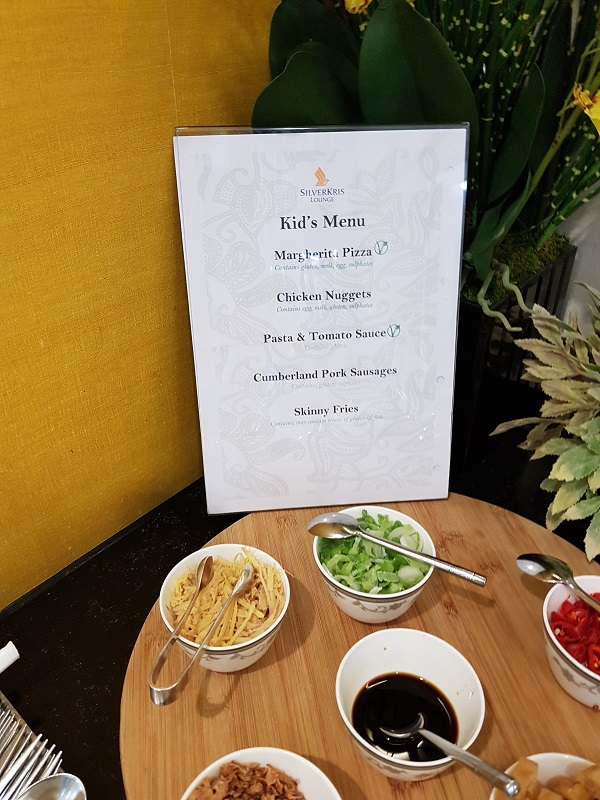 Singapore Airlines Suite First Class Lounge Heathrow Airport Kids Menu