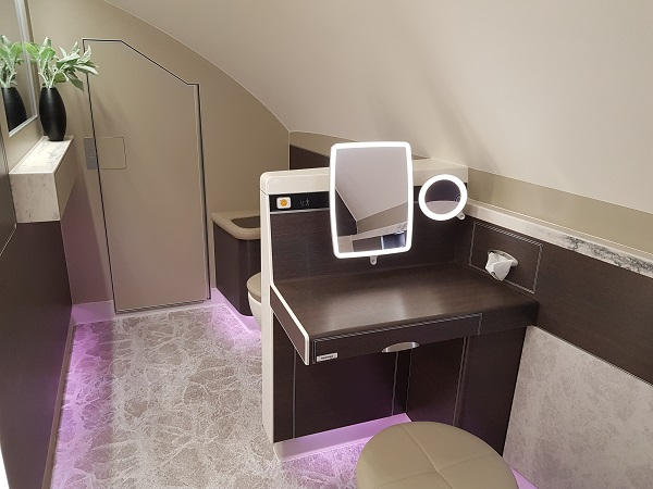 Toilet Singapore Airlines Airbus A380 New Suite Class 1