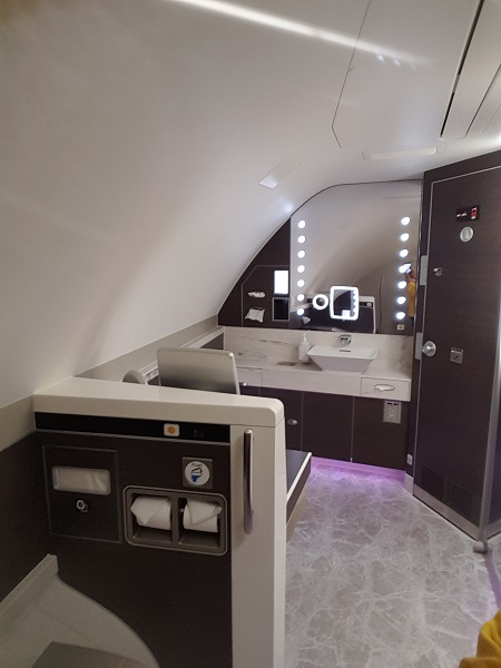 Toilet Singapore Airlines Airbus A380 New Suite Class 2