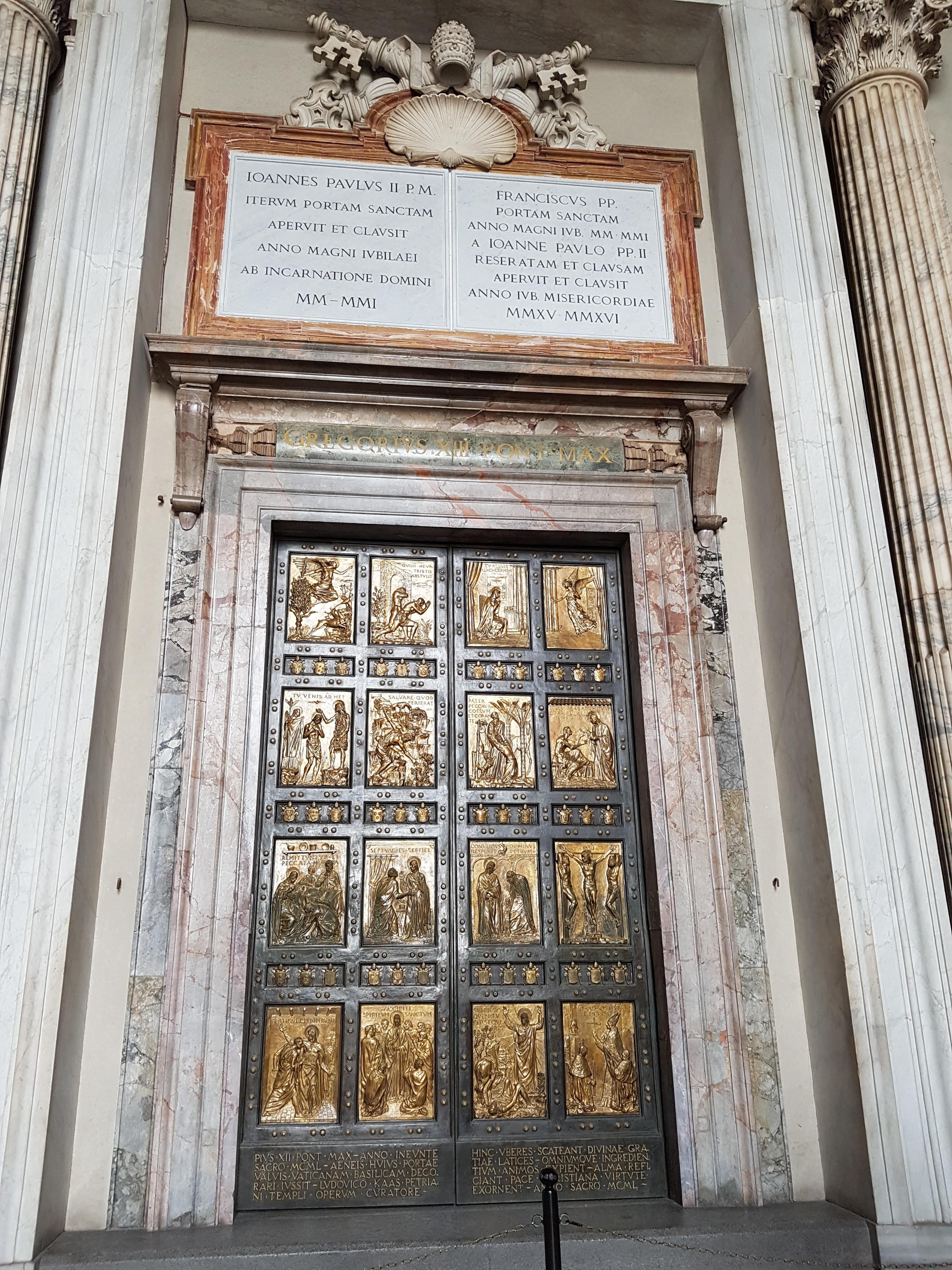 Vatican City St Peter's Basilica Holy Door.jpg