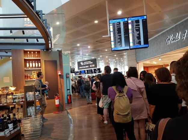 Venice Airport Immigration Queue