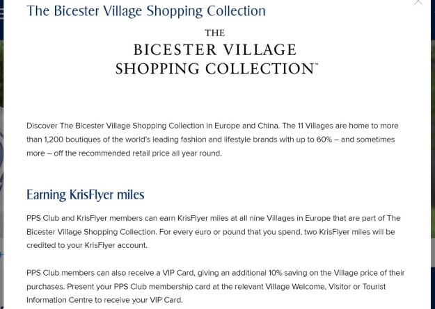 Bicester Village Air Miles Promotion KrisFlyer Miles.jpg