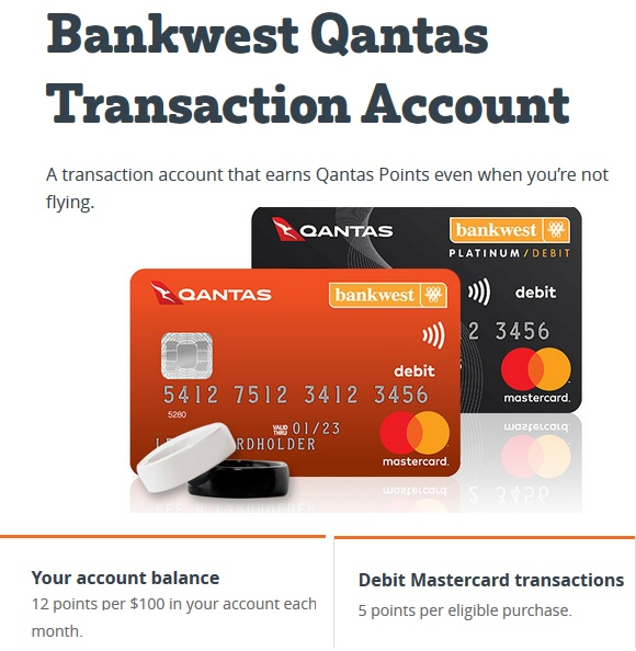 Qantas Bankwest Transaction Account Free Qantas Points