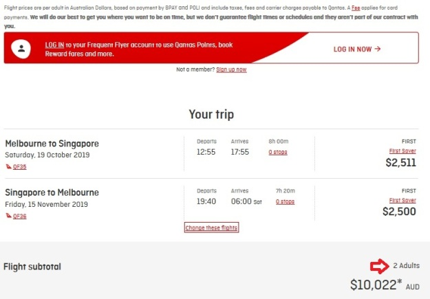 Qantas First Class Melbourne to Singapore Price.jpg
